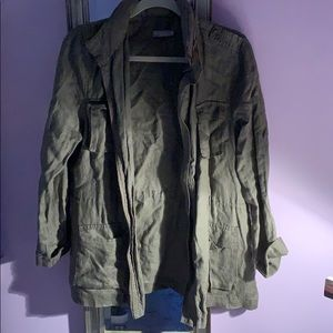 cute army green jacket